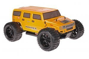 Himoto 1zu10 Brushed EMXT-1 RC Monster Truck Hummer Yellow