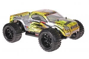 Himoto 1zu10 Brushed EMXT-1 RC Monster Truck Leopard Grey