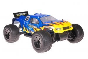 Himoto 1zu10 Brushed Eamba-XR1 RC Truggy Blue Yellow Atlas