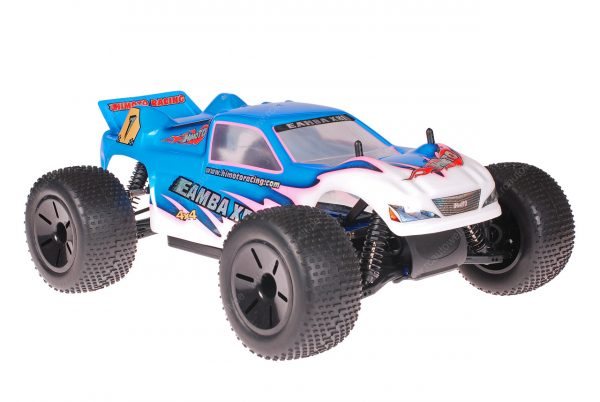 Himoto 1zu10 Brushed Eamba-XR1 RC Truggy Pink Blue