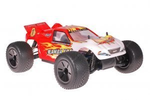 Himoto 1zu10 Brushed Eamba-XR1 RC Truggy Red Flames