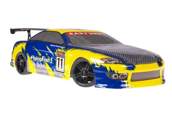 Himoto 1zu10 Brushed Nascada Onroad RC Auto Bad Boy Blue Carbon