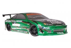 Himoto 1zu10 Brushed Nascada Onroad RC Auto Bad Boy Green Carbon