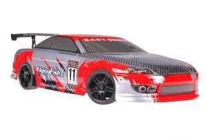 Himoto 1zu10 Brushed Nascada Onroad RC Auto Bad Boy Grey Carbon