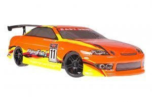 Himoto 1zu10 Brushed Nascada Onroad RC Auto Bad Boy Orange