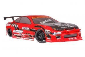 Himoto 1zu10 Brushed Nascada Onroad RC Auto Bad Boy Red Carbon