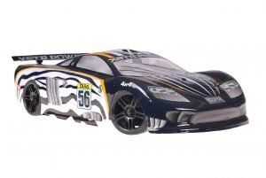 Himoto 1zu10 Brushed Nascada Onroad RC Auto Black Phantom