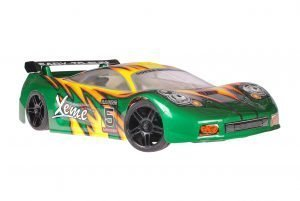 Himoto 1zu10 Brushed Nascada Onroad RC Auto Green Phantom
