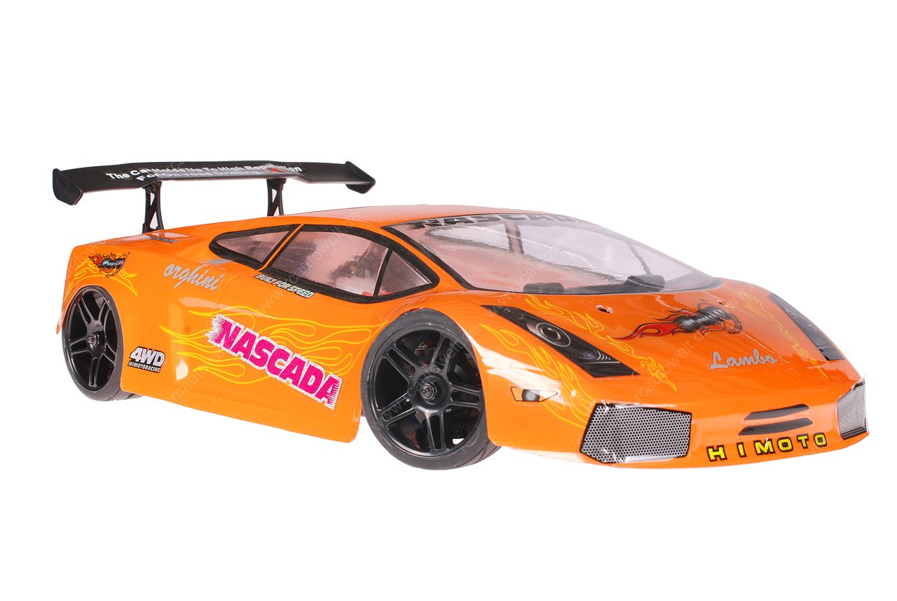 Himoto 1zu10 Brushed Nascada Onroad RC Auto Lamborghini Orange