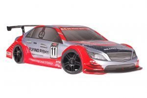 Himoto 1zu10 Brushed Nascada Onroad RC Auto Mercedes Red Carbon