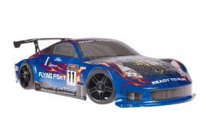 Himoto 1zu10 Brushed Nascada Onroad RC Auto Porsche 911 Carrera Blue Carbon 1