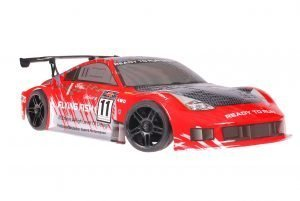 Himoto 1zu10 Brushed Nascada Onroad RC Auto Porsche 911 Carrera Red Carbon 1