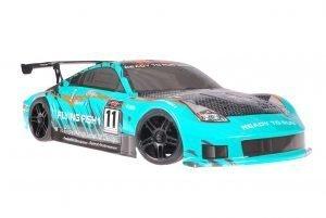 Himoto 1zu10 Brushed Nascada Onroad RC Auto Porsche 911 Carrera Sky Carbon 1