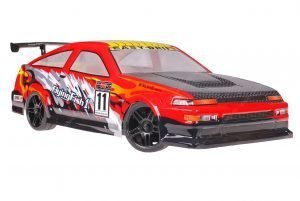 Himoto 1zu10 Brushed Nascada Onroad RC Auto Porsche Red Carbon