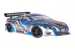 Himoto 1zu10 Brushed Nascada Onroad RC Auto Xeme Blue Carbon