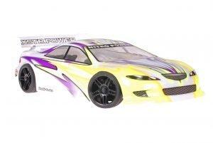 Himoto 1zu10 Brushed Nascada Onroad RC Auto Xeme Purple Yellow
