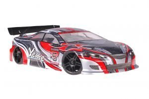 Himoto 1zu10 Brushed Nascada Onroad RC Auto Xeme Red Carbon
