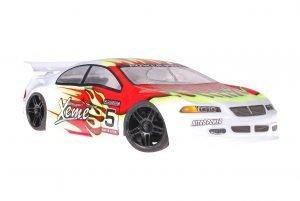 Himoto 1zu10 Brushed Nascada Onroad RC Auto Xeme Red Flames