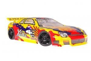 Himoto 1zu10 Brushed Nascada Onroad RC Auto Yellow Red