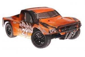 Himoto 1zu10 Brushless RC Short Course Truck Black Orange
