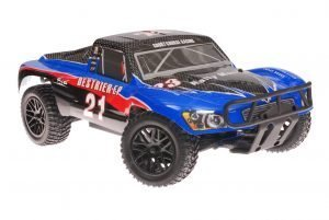 Himoto 1zu10 Brushless RC Short Course Truck Blue Carbon
