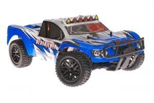 Himoto 1zu10 Brushless RC Short Course Truck Blue Sting