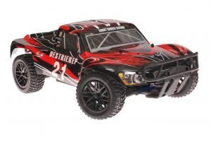 Himoto 1zu10 Brushless RC Short Course Truck Red Sting