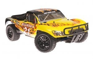 Himoto 1zu10 RC Short Course Truck Black Flames