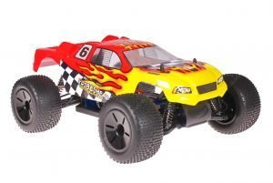 Himoto Eamba Truggy Tribeshead Red Flames