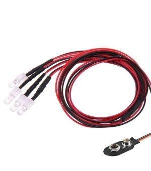 RC 4-LED Karosseriebeleuchtung 9V Batterieanschluss