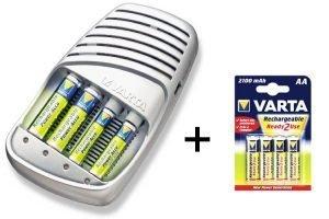 Varta Schnellladegerät + 8St AA 2100mAh NiMH Batterien
