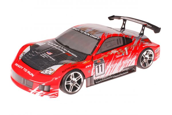 HSP 1zu10 Brushless XEME PRO RC Auto Porsche 911 Carrera Red Carbon