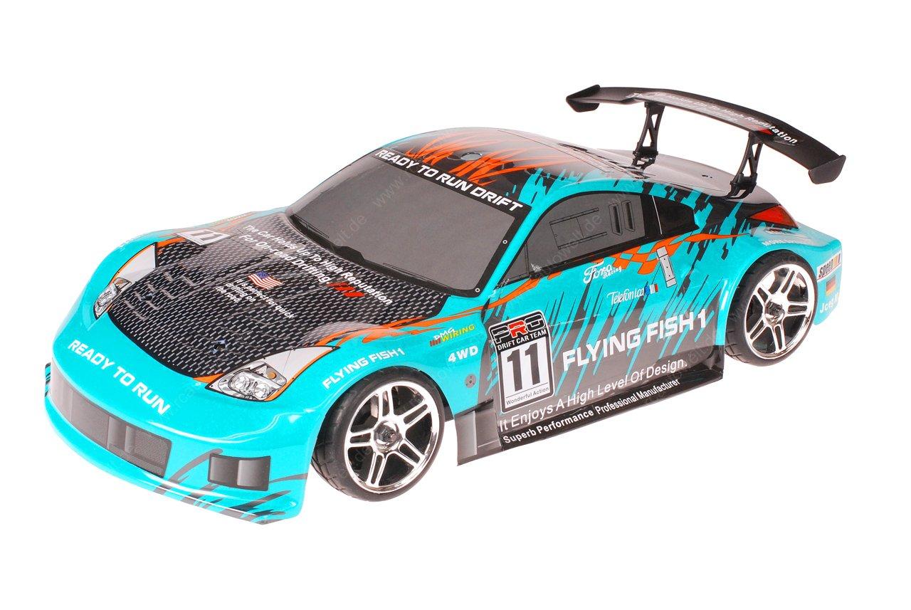 HSP 1zu10 Brushless XEME PRO RC Auto Porsche 911 Carrera Sky Carbon