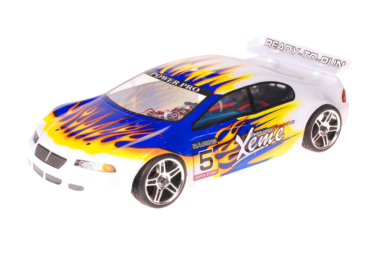 HSP 1zu10 Brushless XSTR PRO RC Auto Xeme Blue Flames