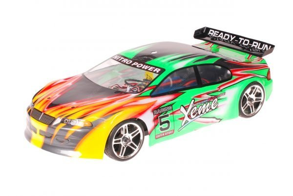 HSP 1zu10 Brushless XSTR PRO RC Auto Xeme Green Flames