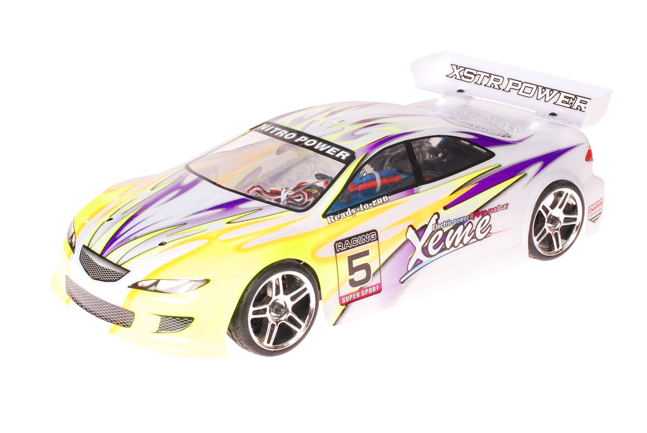 HSP 1zu10 Brushless XSTR PRO RC Auto Xeme Purple Yellow