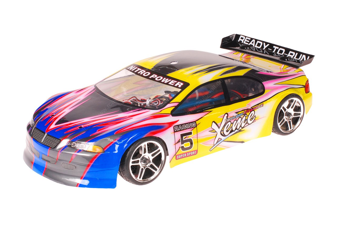 HSP 1zu10 Brushless XSTR PRO RC Auto Xeme Yellow Flames