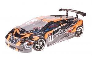 HSP 1zu10 Brushless Xeme PRO RC Auto Lamborghini Orange Carbon